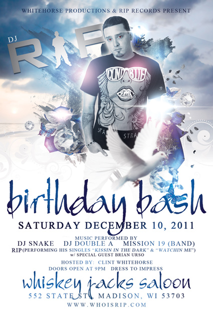 Rip B-Day Bash Flyer