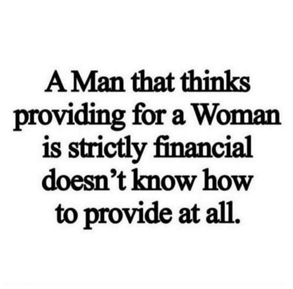 Providing for a woman